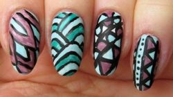 Adult Colouring Book Fans Will Appreciate This Nail Art