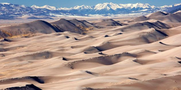 Colorado, Great Sand Dunes National Park and the visual effects of global warming and climate