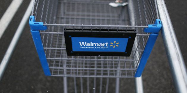 MIAMI, FL - AUGUST 18: A Walmart cart is seen on August 18, 2015 in Miami, Florida. Walmart announced...