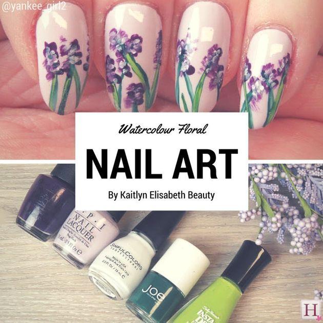 Nail Art: An Easy Floral Watercolour