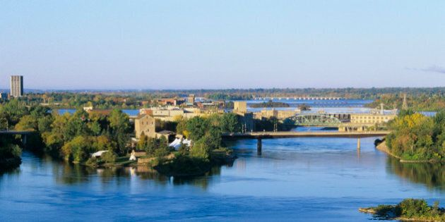 The Ottawa River and Victoria Island, Canada
