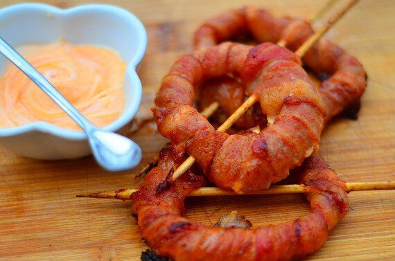 Bacon-Wrapped Onion Ring Campfire