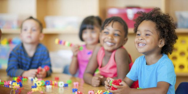 A diverse group of preschoolers in a