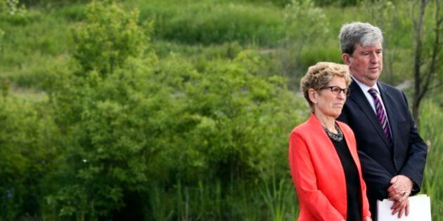 TORONTO, ON - JUNE 8 - Premier Kathleen Wynne and Environment Minister and Climate Change, Glen Murray...