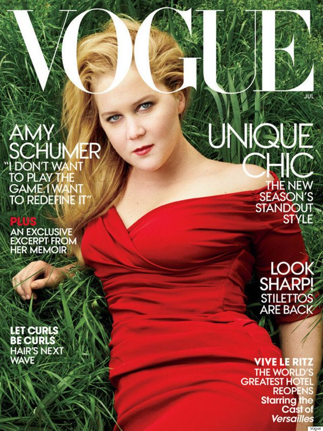 Amy Schumer Gets Her First Vogue Cover, Says She's 'Happy To Remain Out' Of