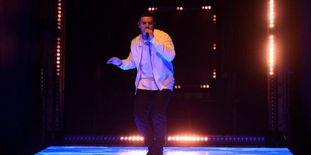 SATURDAY NIGHT LIVE -- 'Drake' Episode 1703 -- Pictured: Musical guest Drake performs on May 14, 2016...