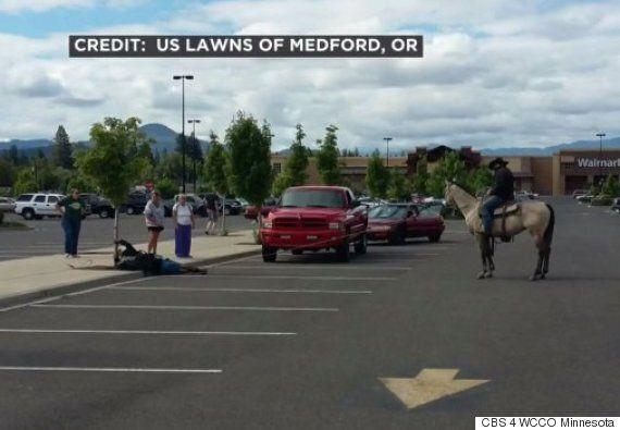 Cowboy Lassos Alleged Bike Thief In Walmart Parking