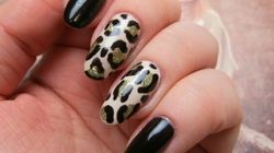 A Vampy Leopard Print Nail Art Design To Rock This
