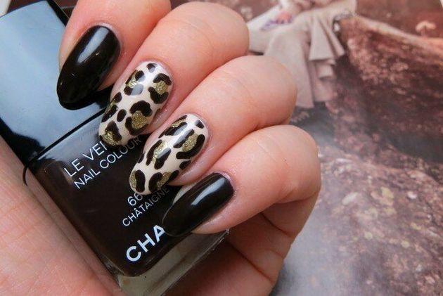 Mani Monday: DIY Vampy Leopard Print Nail