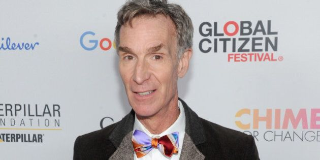NEW YORK, NY - SEPTEMBER 26: Bill Nye attends the 2015 Global Citizen Festival to end extreme poverty...