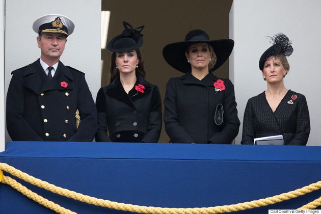 Kate Middleton, Duchess Of Cambridge, Attends Remembrance Day Celebration In