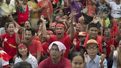 Hundreds Celebrate Suu Kyi's Likely Win In Myanmar