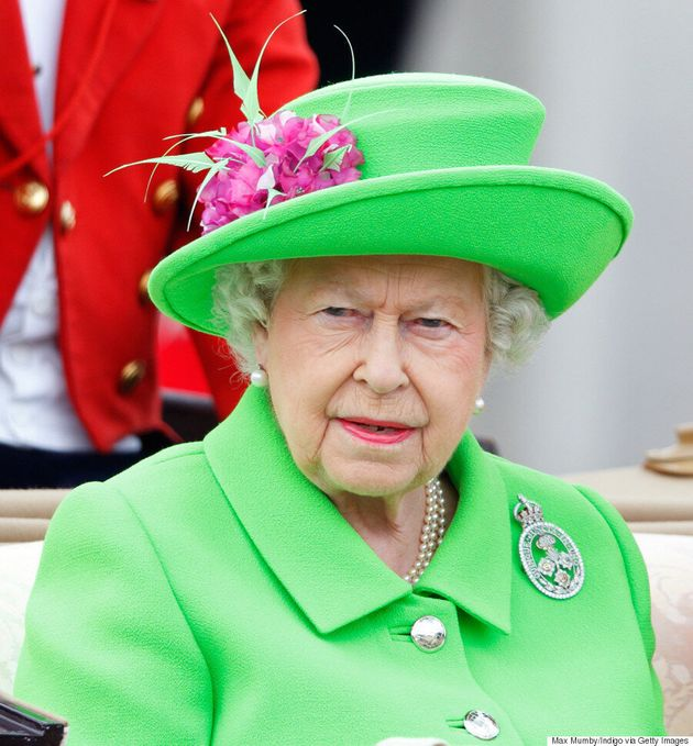 Queen Elizabeth's Neon Green 90th Birthday Outfit Gets The Royal Meme Treatment On