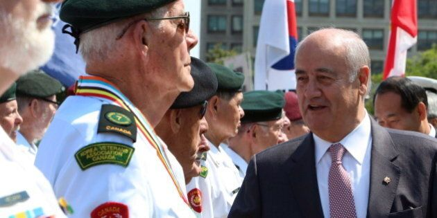 Julian Fantino Unveils Korean War Monument Marking 61st Anniversary Of Armistice To End