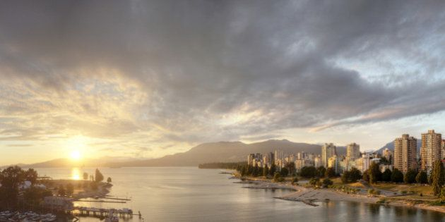 Sunset over Vancouver,