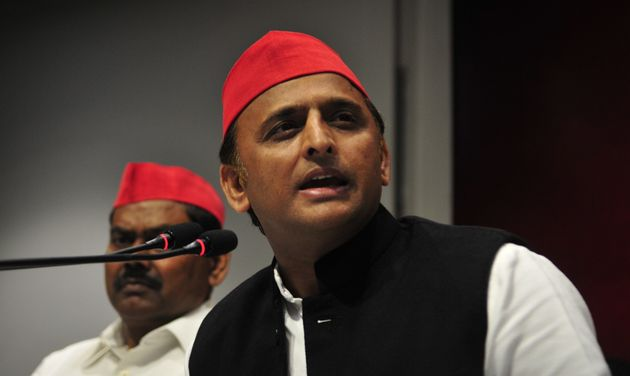 Akhilesh Yadav in a file