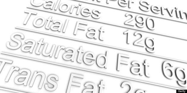 3D nutrition label on