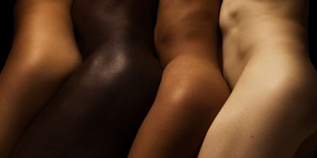 Four different skin coloured bodies in a
