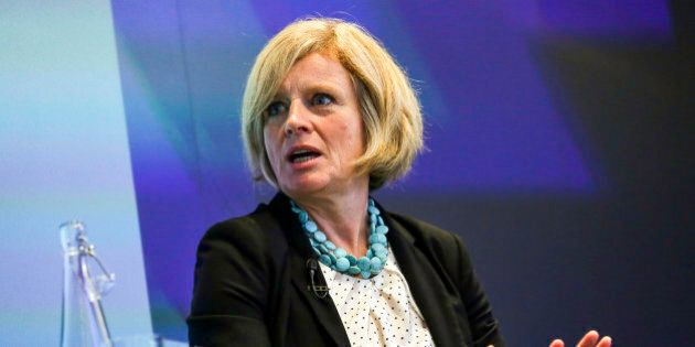Rachel Notley, Alberta's premier, speaks during an interview at the Canadian Fixed Income Conference...