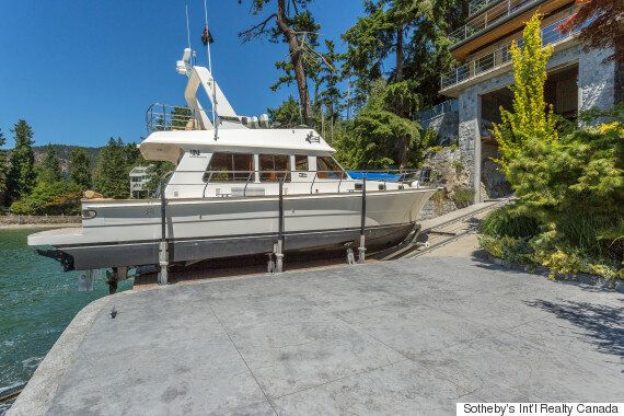 Yacht Garage Comes With This West Vancouver Mansion For