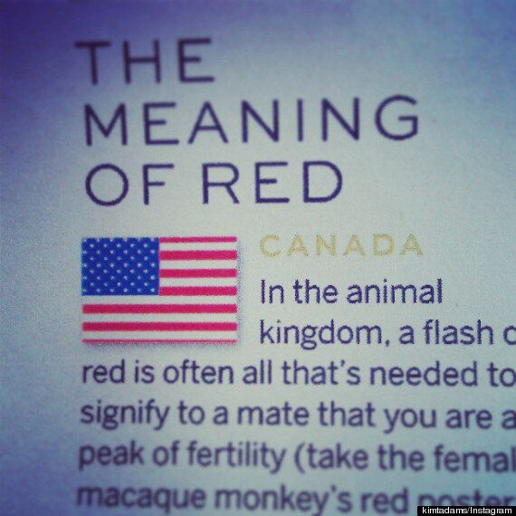 Stylist Magazine Confuses American And Canadian Flags