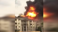 Fire Engulfs Fort McMurray Apartment