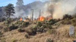 WATCH: Crash Sets B.C. Mountain On
