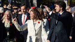 Sophie And Justin Trudeau 'Shoulder To Shoulder' For Historic
