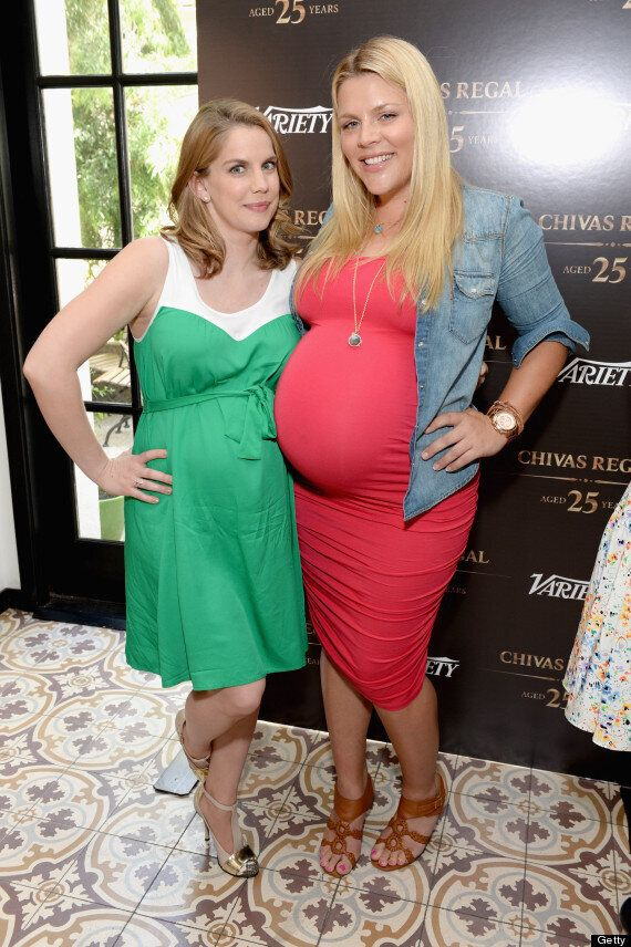 Anna Chlumsky Pregnant: Actress Copies Kate Middleton's Maternity Style In Print Dress, Nude