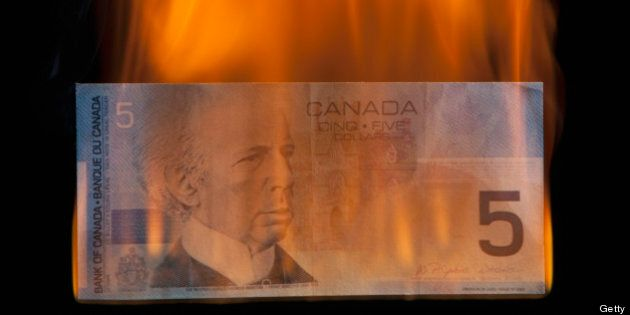 Canadian Dollar Dives 2 Cents In 24 Hours Amid Stock Market