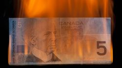 Loonie In Free Fall Amid Market