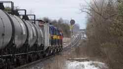 Train Hauling Tanker Cars