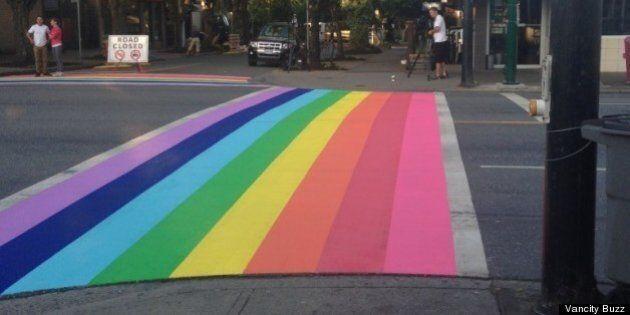 Vancouver Pride Crosswalks Brighten Up The