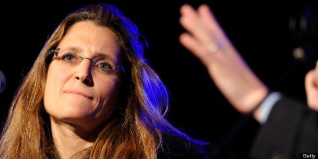ASPEN, CO - JUNE 30: Chrystia Freeland attends the Aspen Ideas Festival 2011 day 4 on June 30, 2011 in...