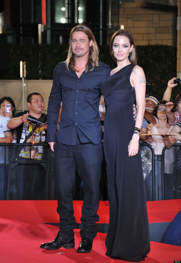 Angelina Jolie And Brad Pitt Wear Matching Outfits At 'World War Z' Premiere