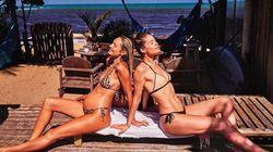 Candice Swanepoel et Doutzen, en vacances, nous
