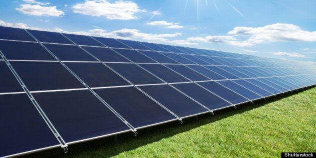 solar panels perspective in a...