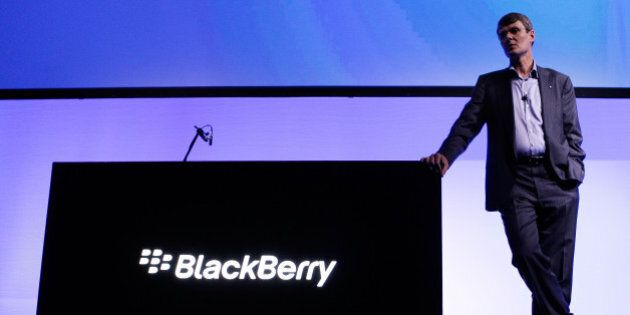 Thorsten Heins, chief executive officer of BlackBerry, attends the launch of the BlackBerry Z10 smartphone...
