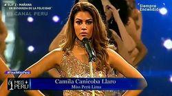 Les candidates de Miss Pérou dénoncent les violences faites aux