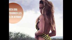 Rita Ora pose les foufounes à l'air pour sa