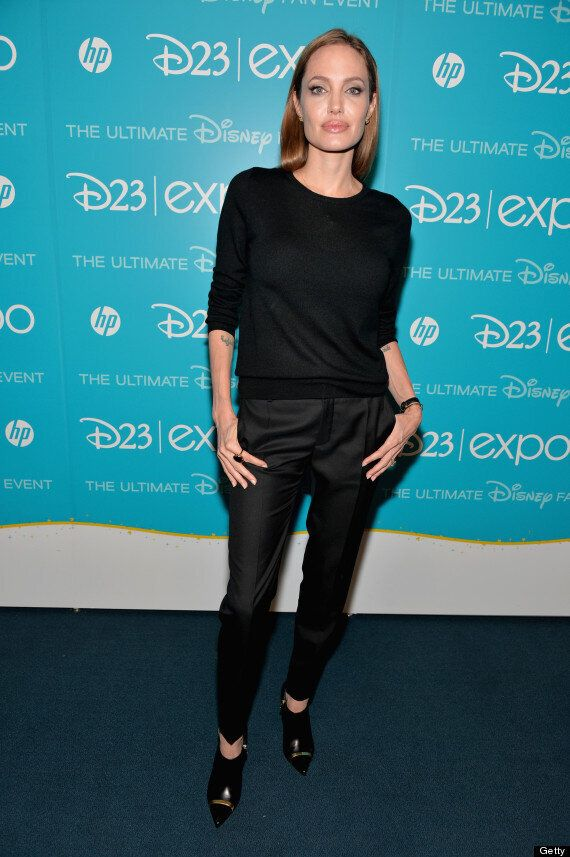 Angelina Jolie Hits D23 Expo Decked Out In All Black