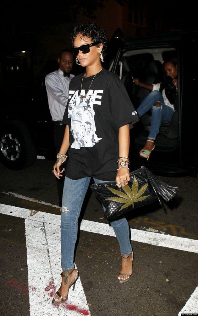 Rihanna's Pot Leaf Purse Sends A Not-So-Subtle Message