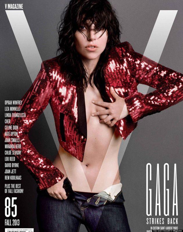 Lady Gaga Goes Topless For V Magazine