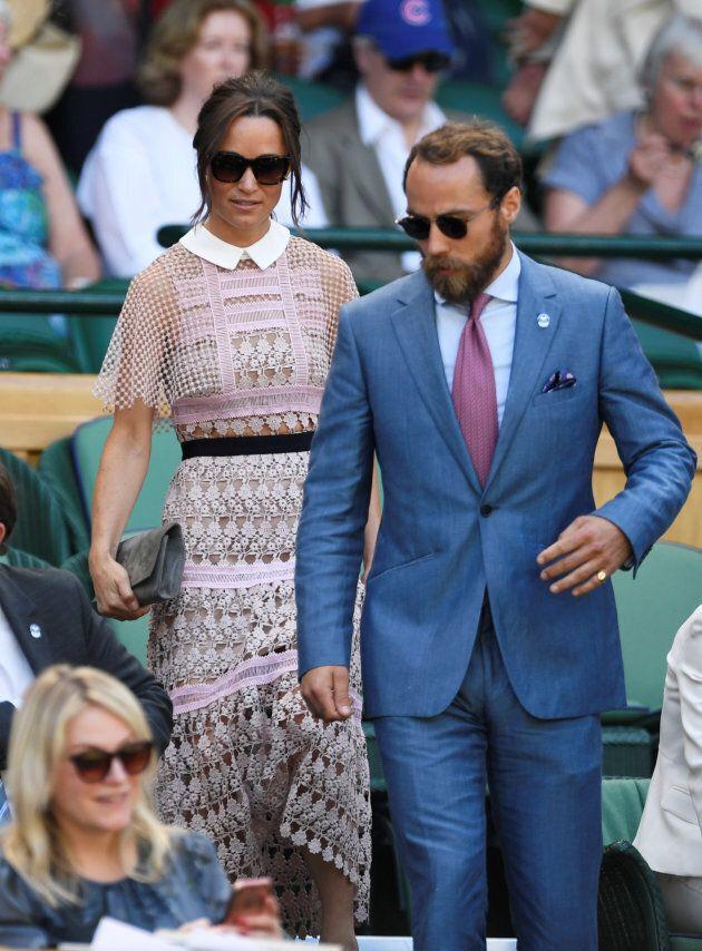 Pippa Middleton et son frère James à Wimbledon.