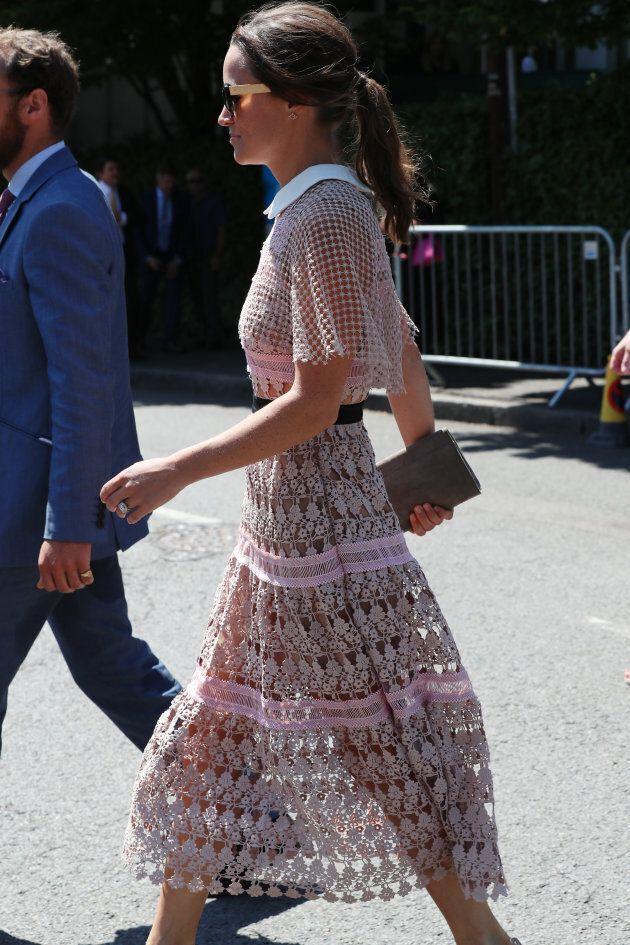 Pippa Middleton arrive à Wimbledon le 5 juillet.