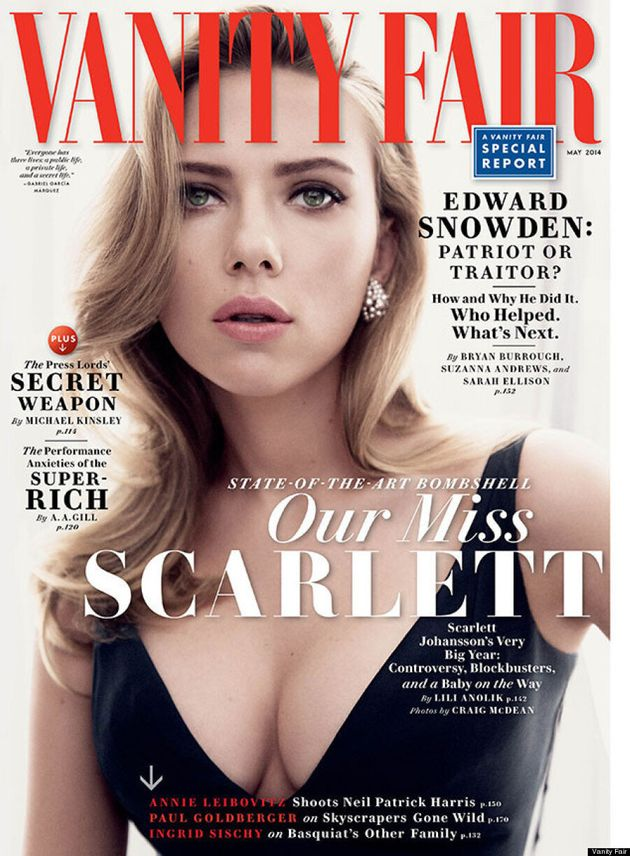 Scarlett Johansson Perfects Her Blank Face For Vanity
