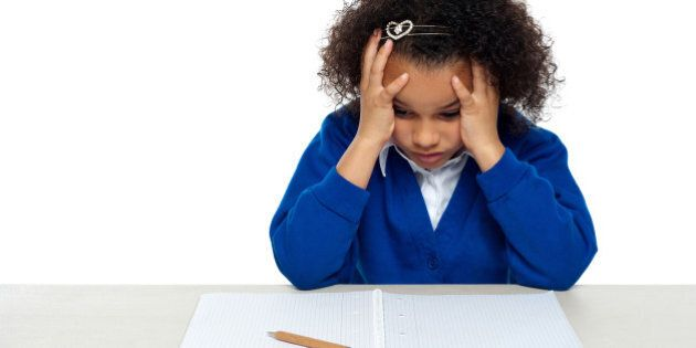 stressed out primary girl child ...