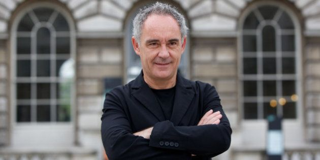 Spanish chef Ferran Adria poses in front of Somerset House at the launch of a new exhibition El Bulli:...