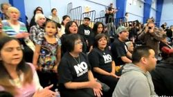 WATCH: 'No Enbridge' Protesters Surprise Kitimat