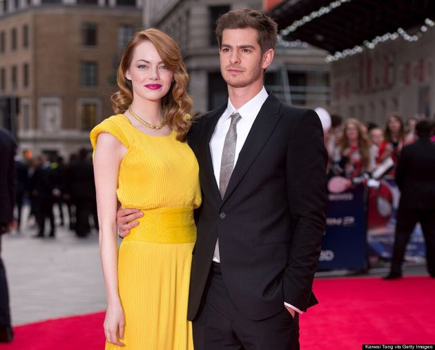 Emma Stone S Yellow Amazing Spider Man 2 Versace Dress Is Iconic Photos Huffpost Canada